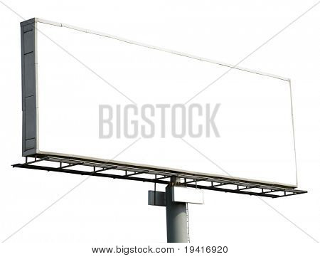 Blank billboard isolated on white background for your advertisement