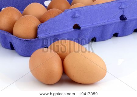 Brown Raw Eggs