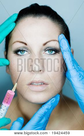 Beautifying a female with injection