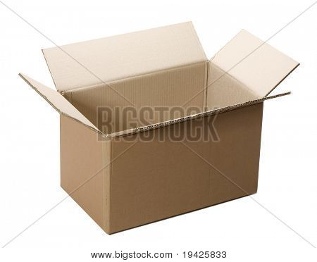 cardboard box on a isolated background