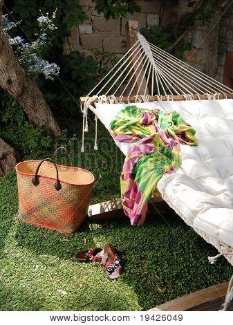 lazy summer day on hammock