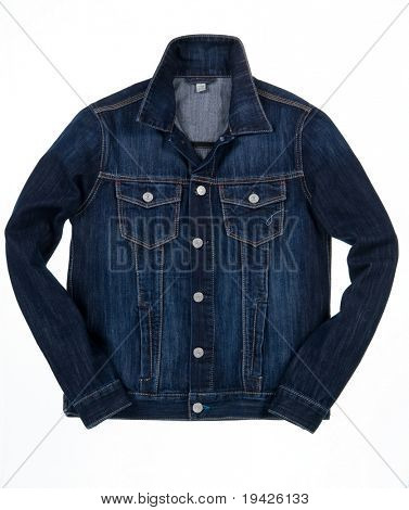 denim jacket isolated