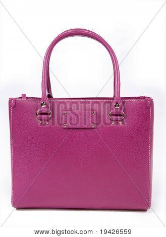 pink woman's handbag
