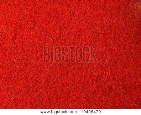 Vermelho sentiu a textura