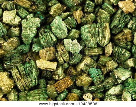 Vermiculita verde teñido.