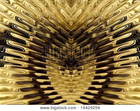 gold grille like abstract