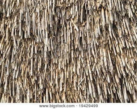 texture of straw roof