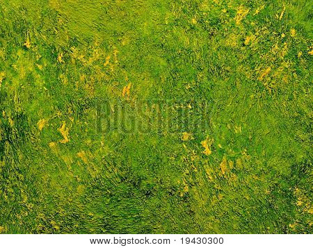 Deep green high magnification oil painting texture.