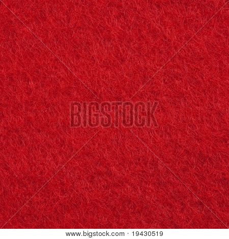 High magnification red felt texture