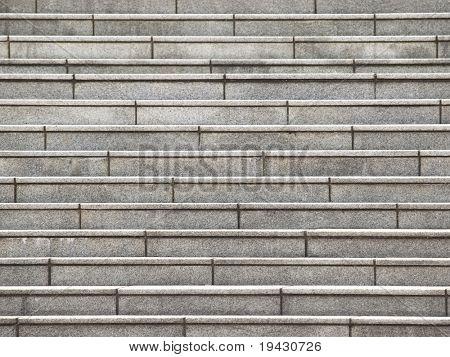 Escalera de piedra tiro desde la parte delantera.