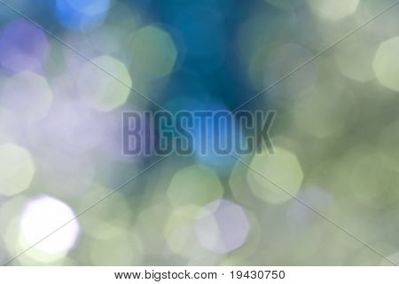 blue off focus bokeh background