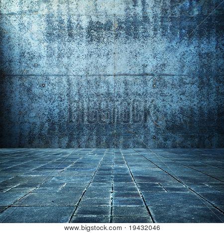 Grunge Blaues Zimmer