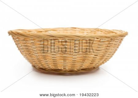 A basket isolated on white.