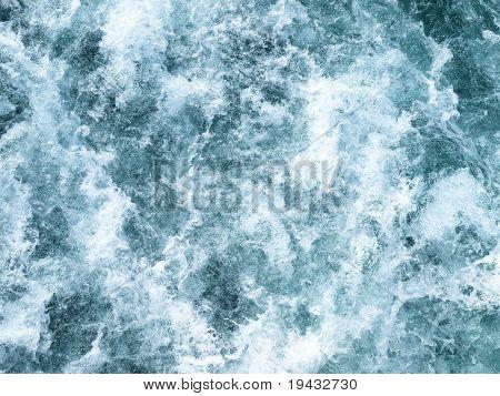 spatten golven schot van direct boven
