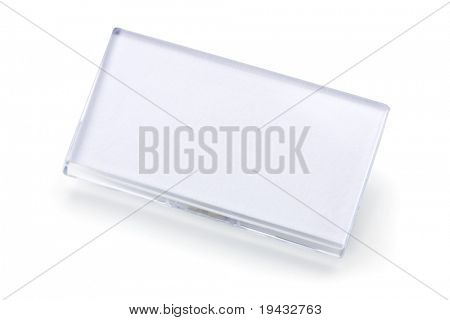 Blank ID tag isolated on white