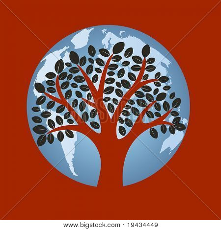Trees on the earth concept - layered used together or separately