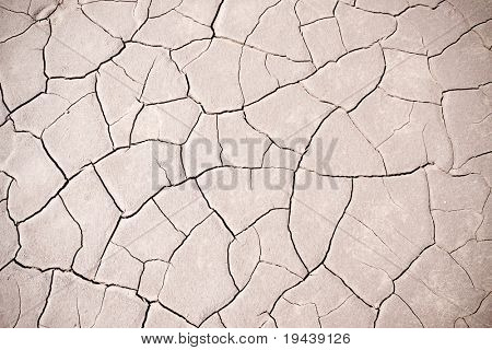 arid cracked earth - global warming effect