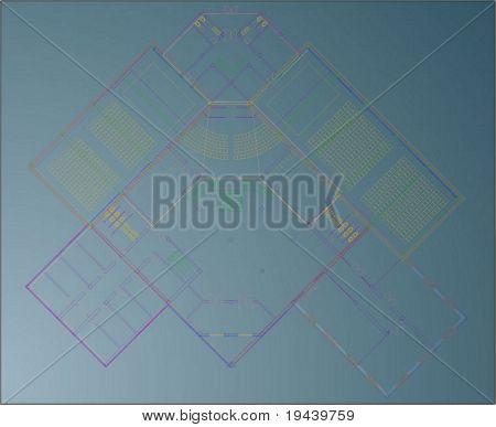 basic technical draw vector
