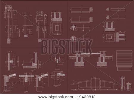 architectural plan print