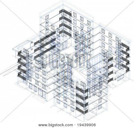 3D vector building wire