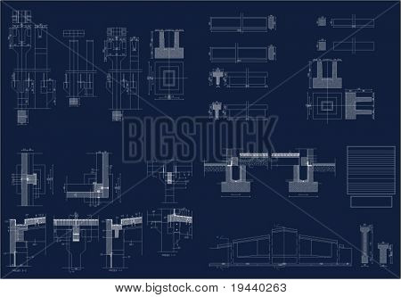 vector draw of industrial details