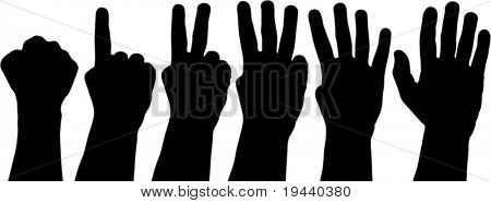 counting fingers vector