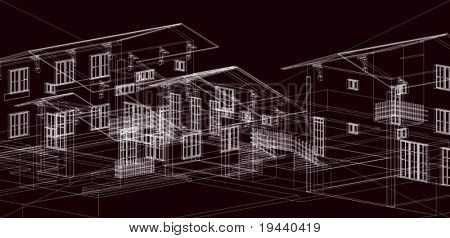 3D draw of houses