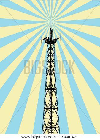 antenna spreading rays