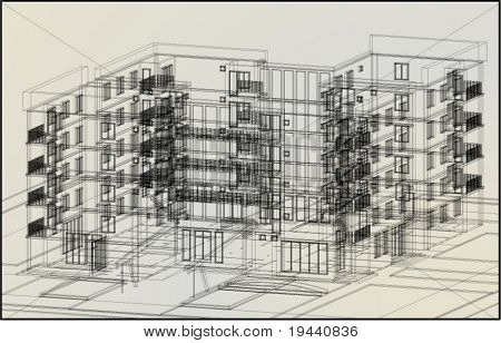 3D architectural draw