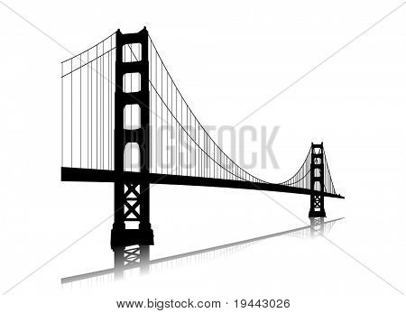 Vector golden gate bridge