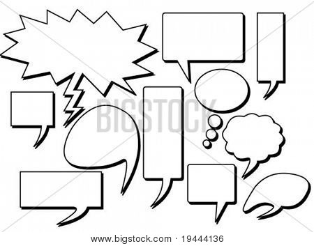 Speech Bubbles Set in vector design