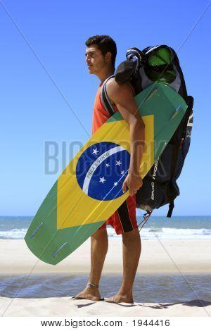 Kite Surfing In Brazil