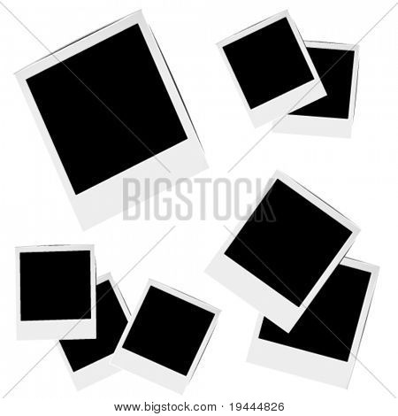 photo frames in vector art