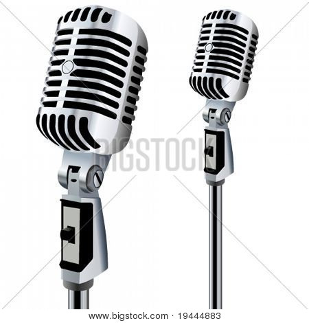 retro Microphone in bearbeitbare Vector design