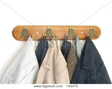 Pants Hung On The Hooks