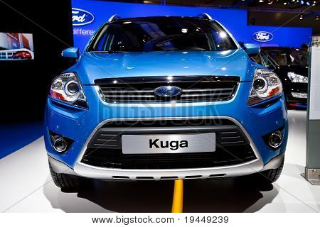Moscow, Russia - August 25:  Blue Jeep Ford Kuga At Moscow International Exhibition Interauto On Aug