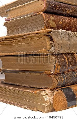 The ancient books on a light background