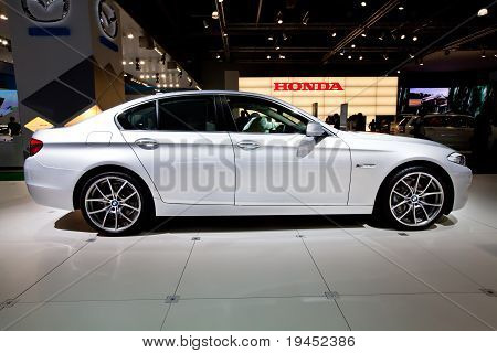 Moscow, Russia - August 25:  Grey Car Bmw 523 At Moscow International Exhibition Interauto On August
