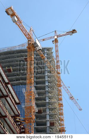 Highrise Office Building Construction Site