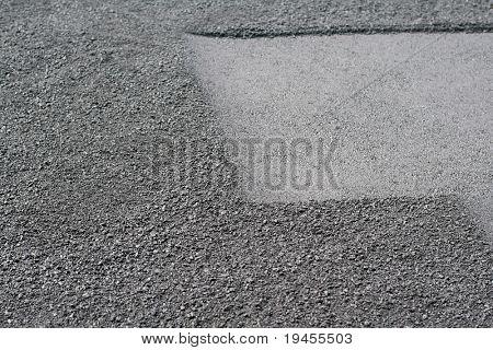 New hot uneven asphalt