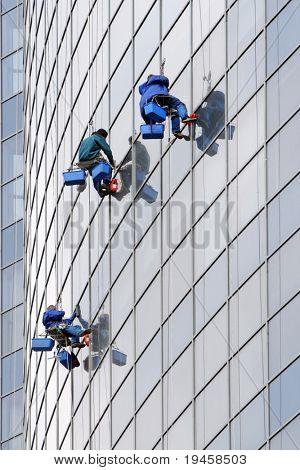 Three window washers