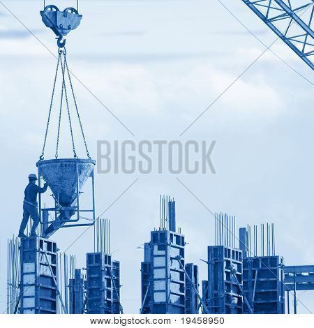 Construction worker silhouette