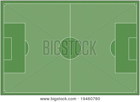Voetbal veld Vector