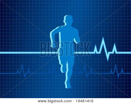 Healthy Heartbeat vector illustration