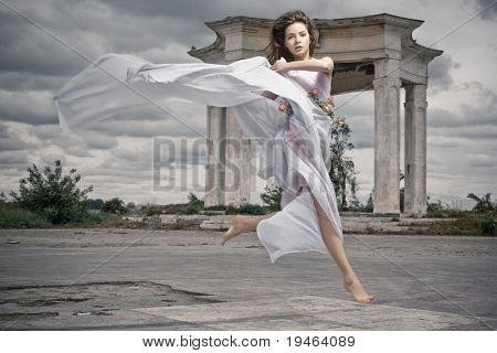 Dynamic image of a beautiful mythic woman