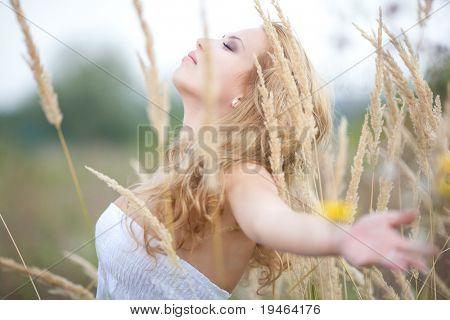 Beautiful Woman Enjoying Nature