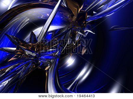 saphire blue&bronce