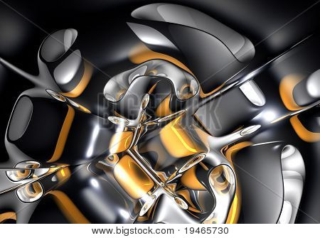 gold&silver space (abstract) 01
