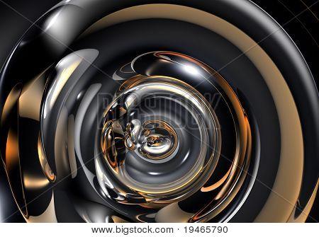abstract metall tube