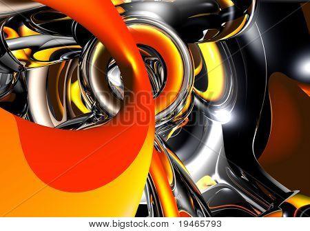 orange&silver wires 02